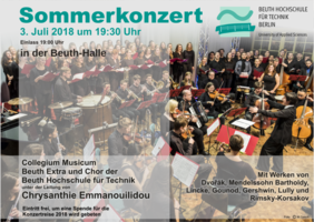 program of summer concerto 2018